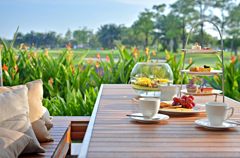 Afternoon,tea,at,our,golf,resort