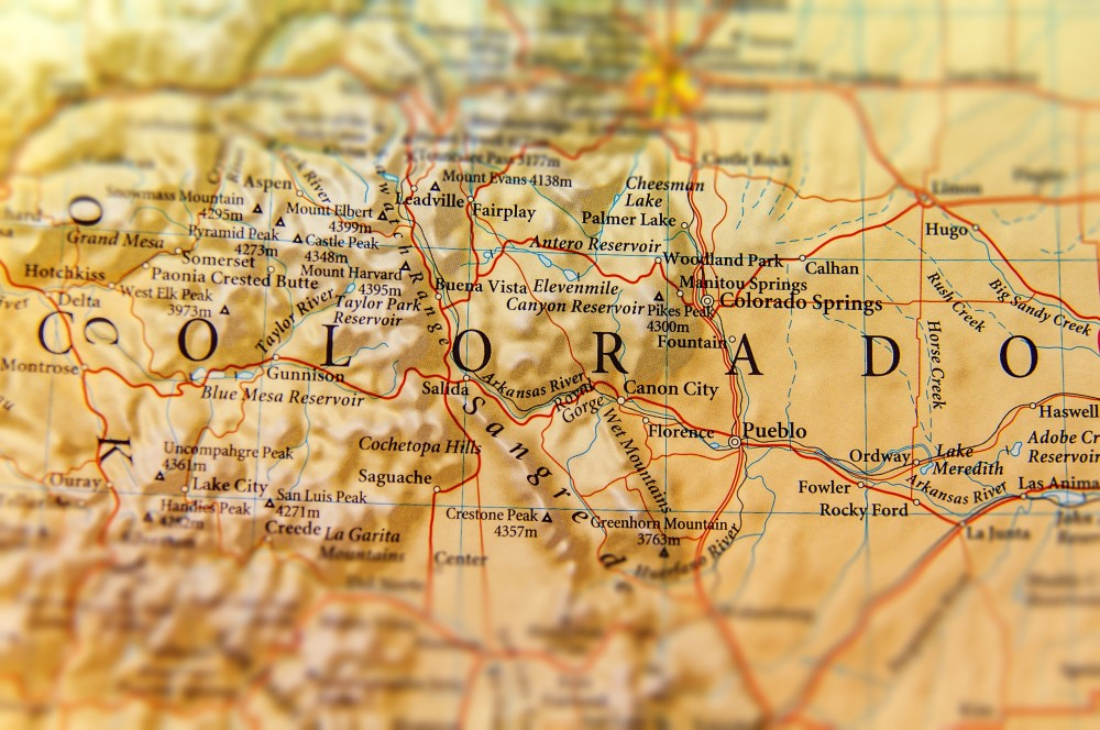 Geographic,map,of,colorado,state,close