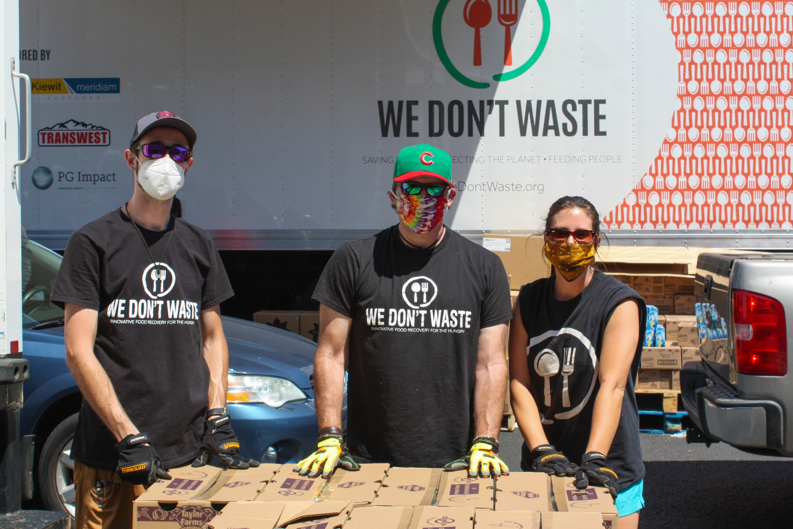 We Dont Waste Mobile Market Volunteers With Truck
